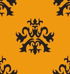 Seamless ornate pattern vector image