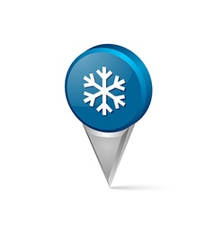 Winter snowflake pointer vector