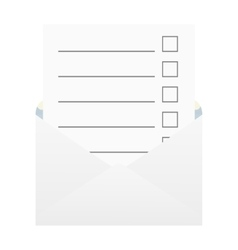 Checklist in an envelope vector