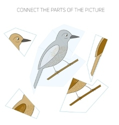 Puzzle game for children bird vector