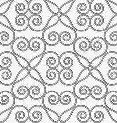 Perforated swirly flower grid vector