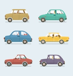 Many style of cars side view vector