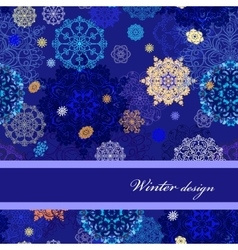 Seamless pattern with golden blue white vector