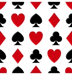 Casino poker seamless pattern vector