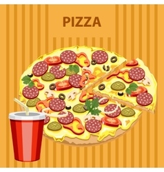 Big tasty pizza vector