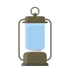 Portable electric lantern camping vector