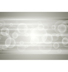 Abstract grey tech background with circles vector image vector image