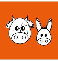 Animal design cartoon icon colorful vector
