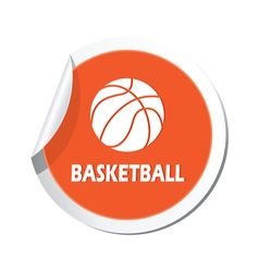 basketball2 ORANGE LABEL vector image