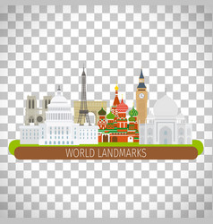 building landscape on transparent background vector image