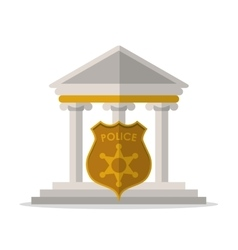 Building police shield and law design vector