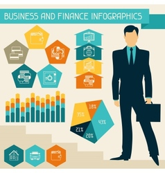 Business and finance infographics vector