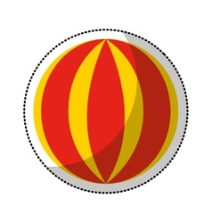 Circus ball isolated icon vector