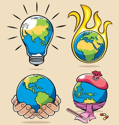 ecology concepts 3 vector image