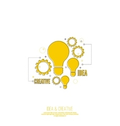 Electric lamp and gear vector image vector image