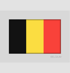 Flag of belgium national ensign aspect ratio 2 to vector