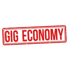 Gig economy grunge rubber stamp vector