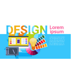 graphic web design creative designer work vector image