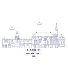 Haarlem city skyline vector