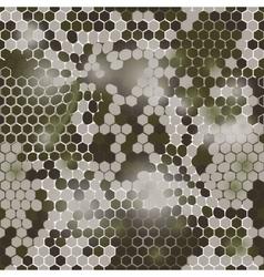 Hexagonal camouflage pattern vector