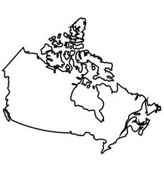 isolated canadian map vector image