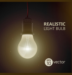 light bulb sepia background vector image vector image