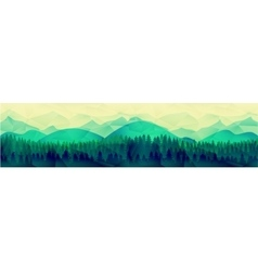 Low poly mountains landscape background vector image
