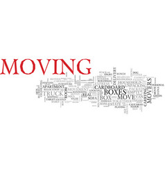 move word cloud concept vector image vector image