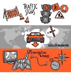 Navigation banner set vector