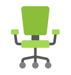 Office chair flat icon furniture and interior vector