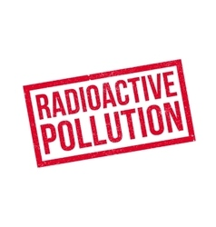 Radioactive Pollution rubber stamp vector image
