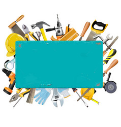 rusty frame with instruments vector image vector image