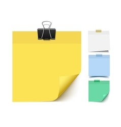 Sticky note paper set vector image
