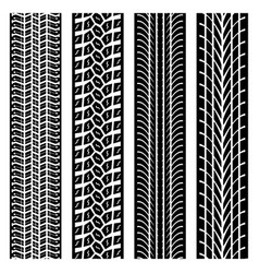 Tire tracks set vector