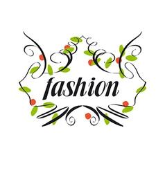 trendy logo of vegetation patterns vector image vector image