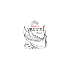 Venice city sign tourist venetian transport vector