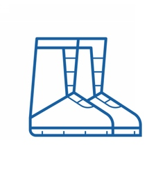Winter snowboard boots icon vector