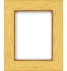 Wooden rectangular photo frame vector image vector image