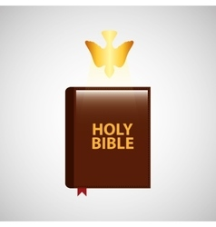 Holy bible with holy bible design icon vector