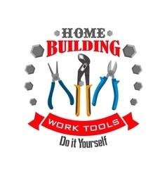 Work tools for home repair building emblem vector
