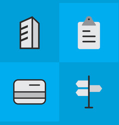 Set of simple trade icons vector