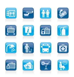 Travel and transportation icons vector