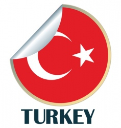 turkey sticker vector image