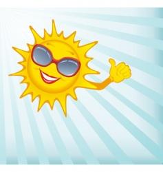 Happy sun vector