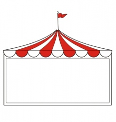 tent sign vector image