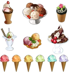 Ice-cream set vector image