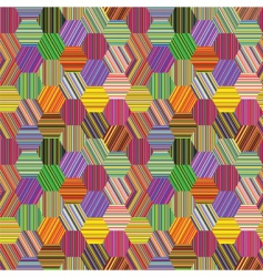 Stripes patchwork vector