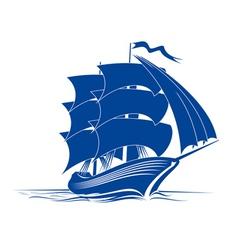 Brigantine ship vector