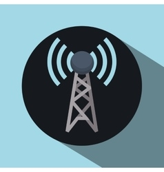 Antenna over circle design vector