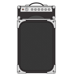 Electric guitar amplifier vector